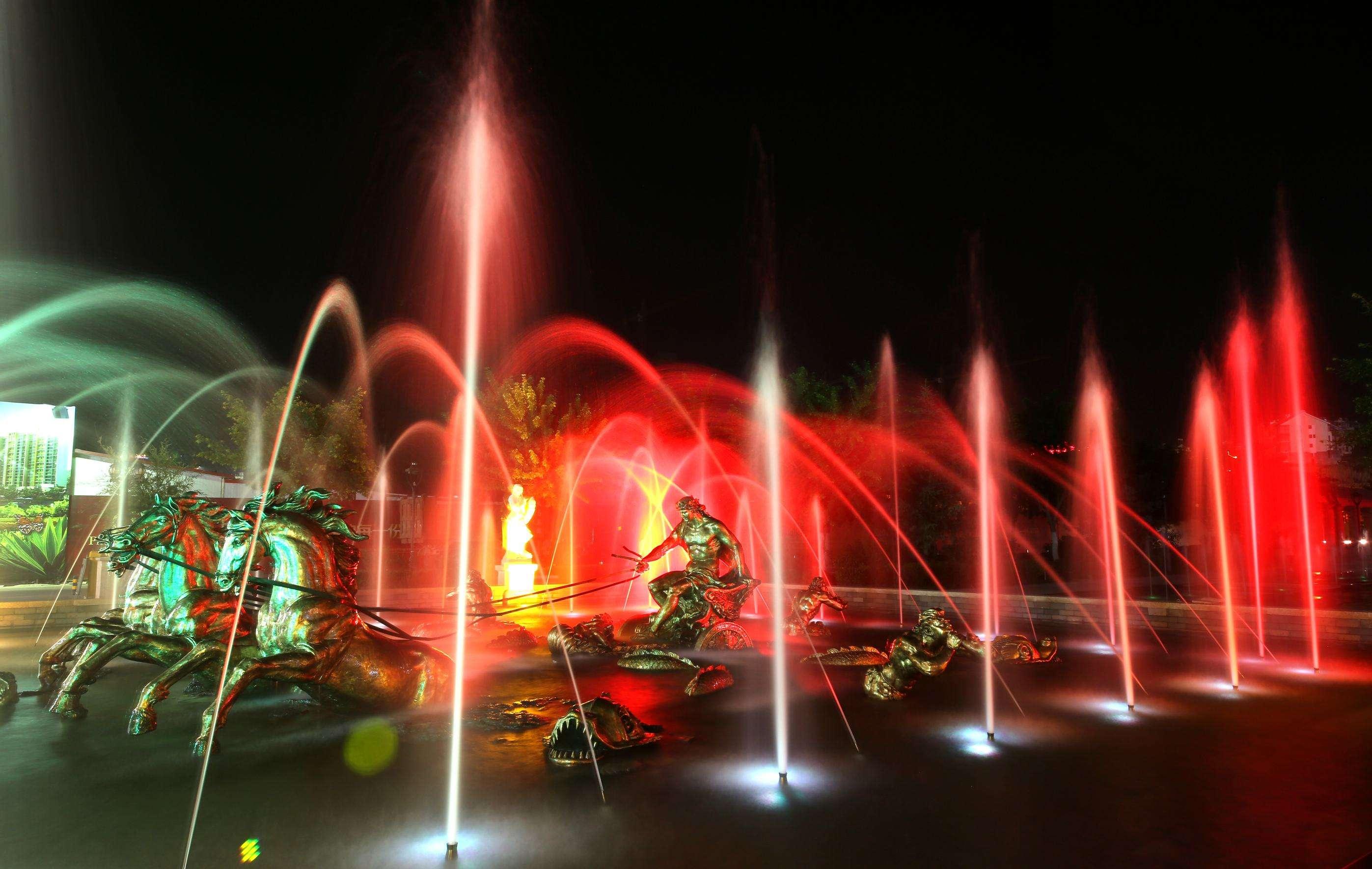 合肥大型光影水舞数码音乐喷泉