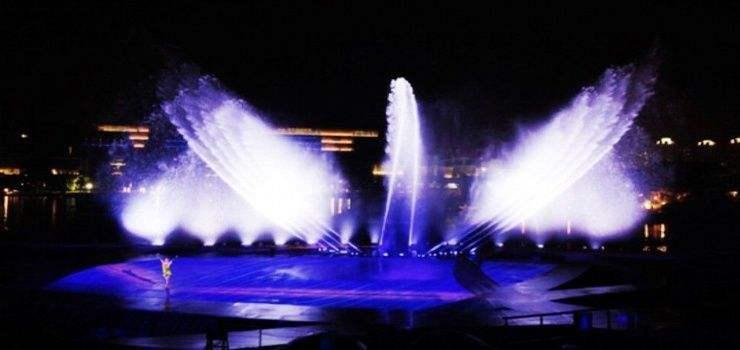 萧湖文化旅游区大型光影水舞水秀项目